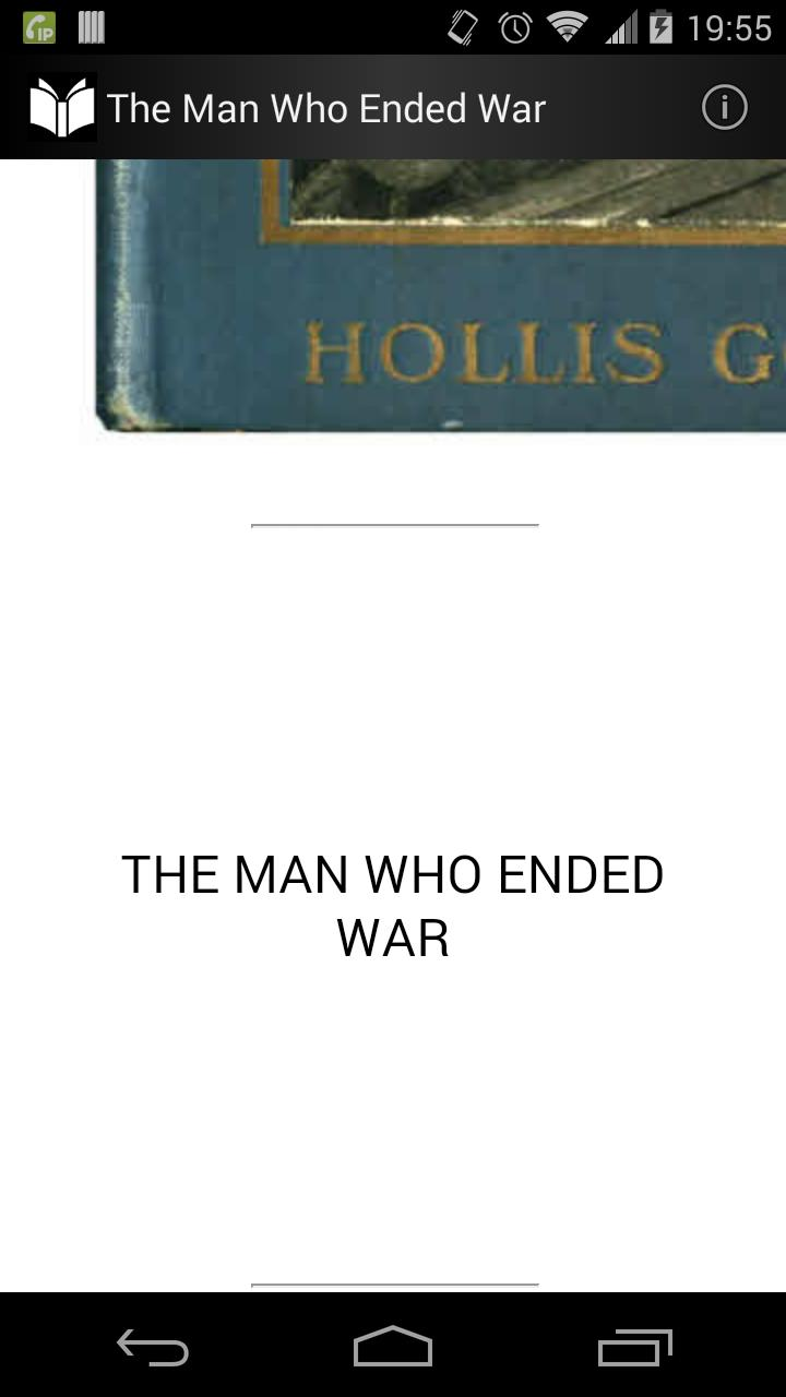 The Man Who Ended War poster