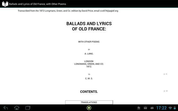Ballads and Lyrics of Old France screenshot 2