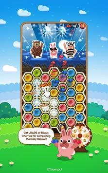 LINE Pokopang - POKOTA's puzzle swiping game! imagem de tela 1