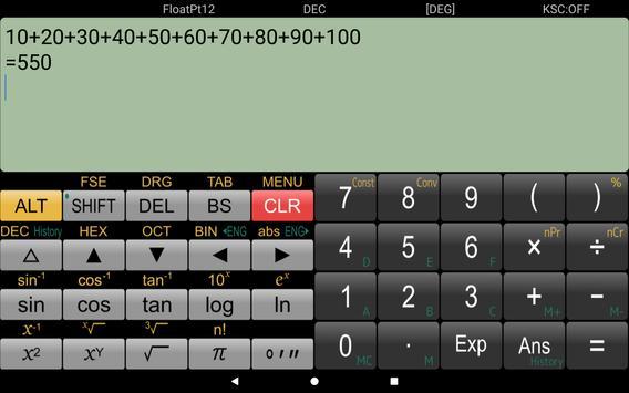 حاسبة علمية Panecal تصوير الشاشة 8