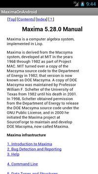 Maxima on Android screenshot 2