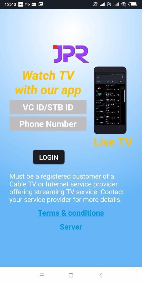 Tv Service Providers >> Jpr Digital Cable Tuner For Android Apk Download