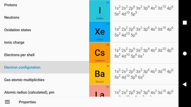Tabel Periodik 2020. Kimia di saku Anda syot layar 1
