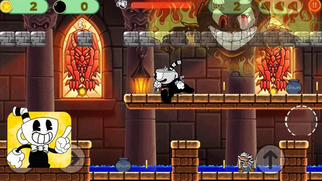 super cup on head: World castle game screenshot 1