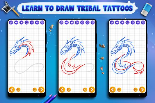 Learn to Draw Tribal Tattoos Ekran Görüntüsü 9
