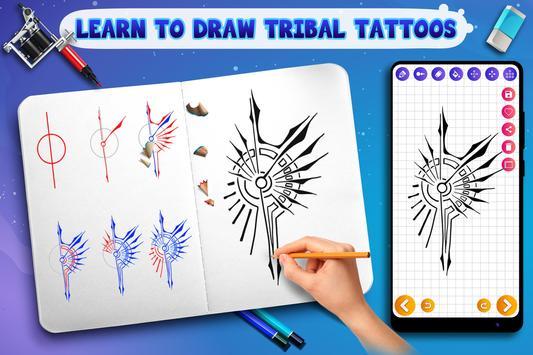 Learn to Draw Tribal Tattoos Ekran Görüntüsü 10