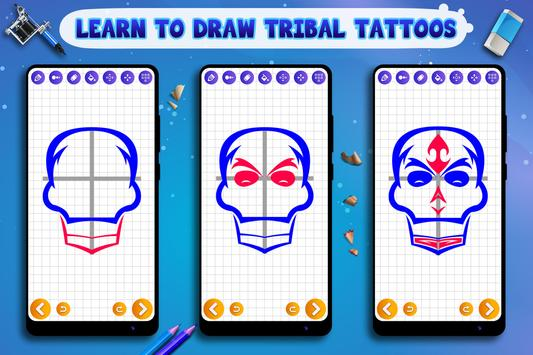 Learn to Draw Tribal Tattoos Ekran Görüntüsü 1
