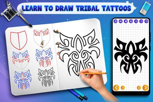 Learn to Draw Tribal Tattoos Ekran Görüntüsü 2