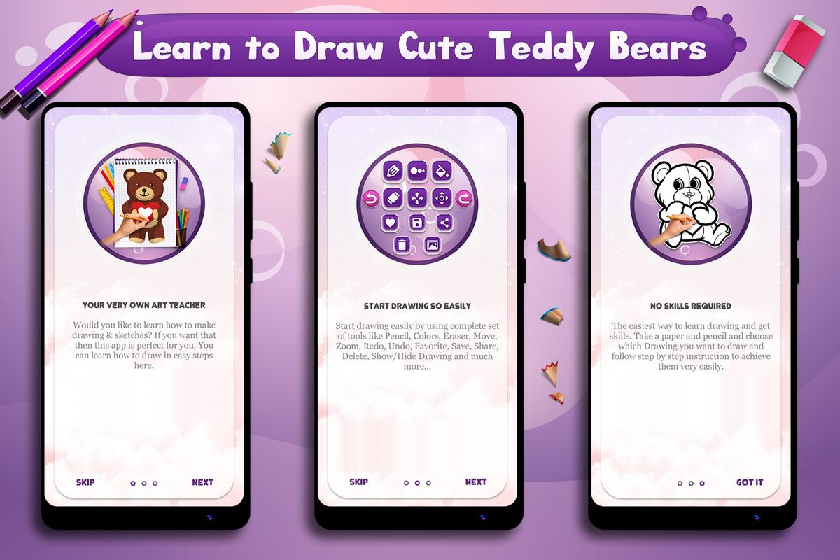 Learn To Draw Lil Cute Teddy Bears For Android Apk Download