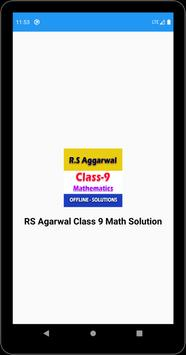 RS Aggarwal Class 9 Math Solution poster