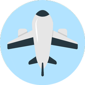 Online air ticket booking icon