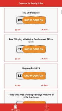 Smart Coupons for Family Dollar screenshot 1