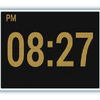 Reloj digital del LED icono