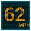 GPS metro LED de velocidad icono