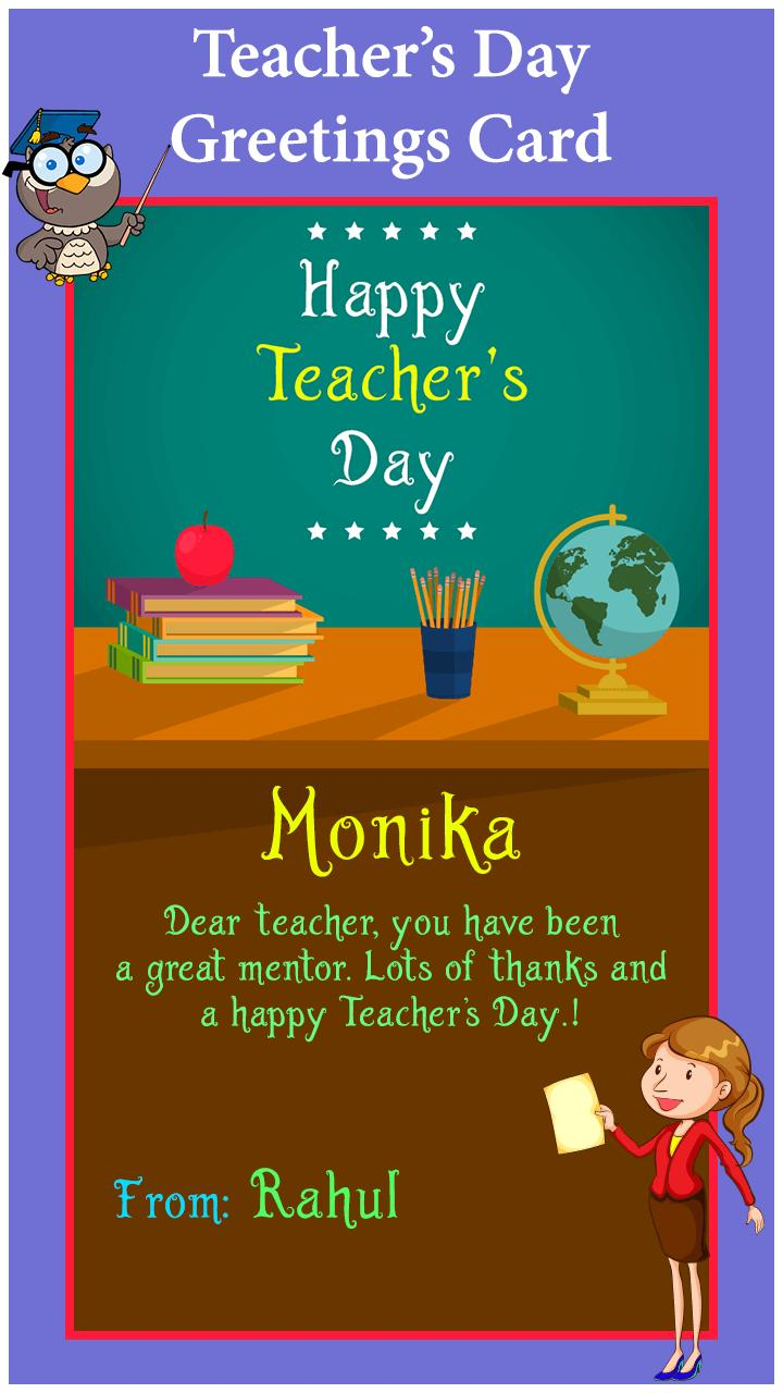 teacher's day greeting card maker for android  apk download
