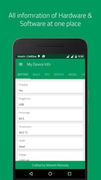My Device Info capture d'écran 1