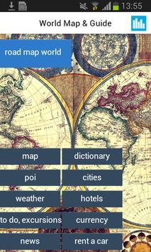 World Offline Map Earth Guide poster