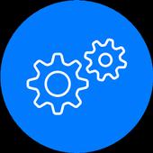 開発者向けオプションのショートカットとデバイス情報 アイコン