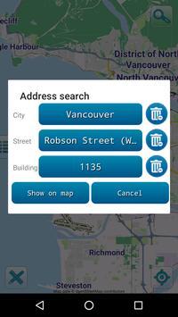 Map of Vancouver offline screenshot 2