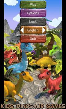 Kids Dinosaur Games Free poster
