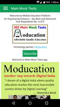 JEE MAIN Mock Tests Best for 2019 Practice poster