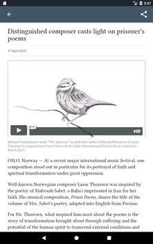 Bahá'í World News Service (BWNS) screenshot 13
