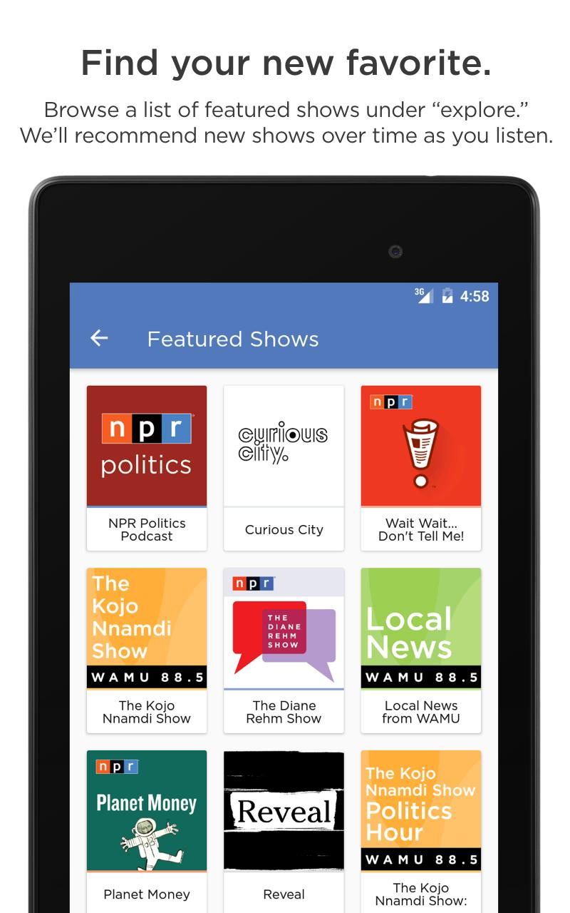 NPR One for Android - APK Download