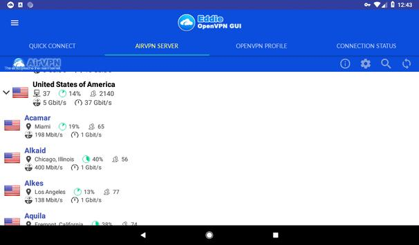 Eddie - AirVPN official OpenVPN GUI for Android - APK Download