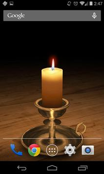 3D Melting Candle Live Wallpaper Free poster