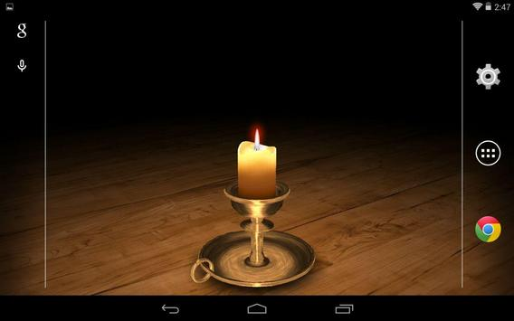 3D Melting Candle Live Wallpaper Free screenshot 4