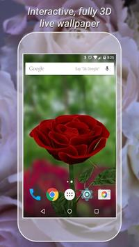 3D Rose Live Wallpaper Free Cartaz