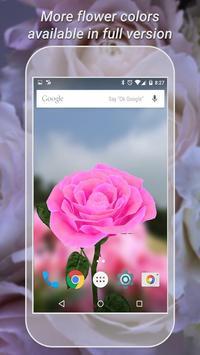 3D Rose Live Wallpaper Free imagem de tela 1