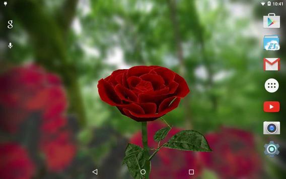 3D Rose Live Wallpaper Free imagem de tela 5