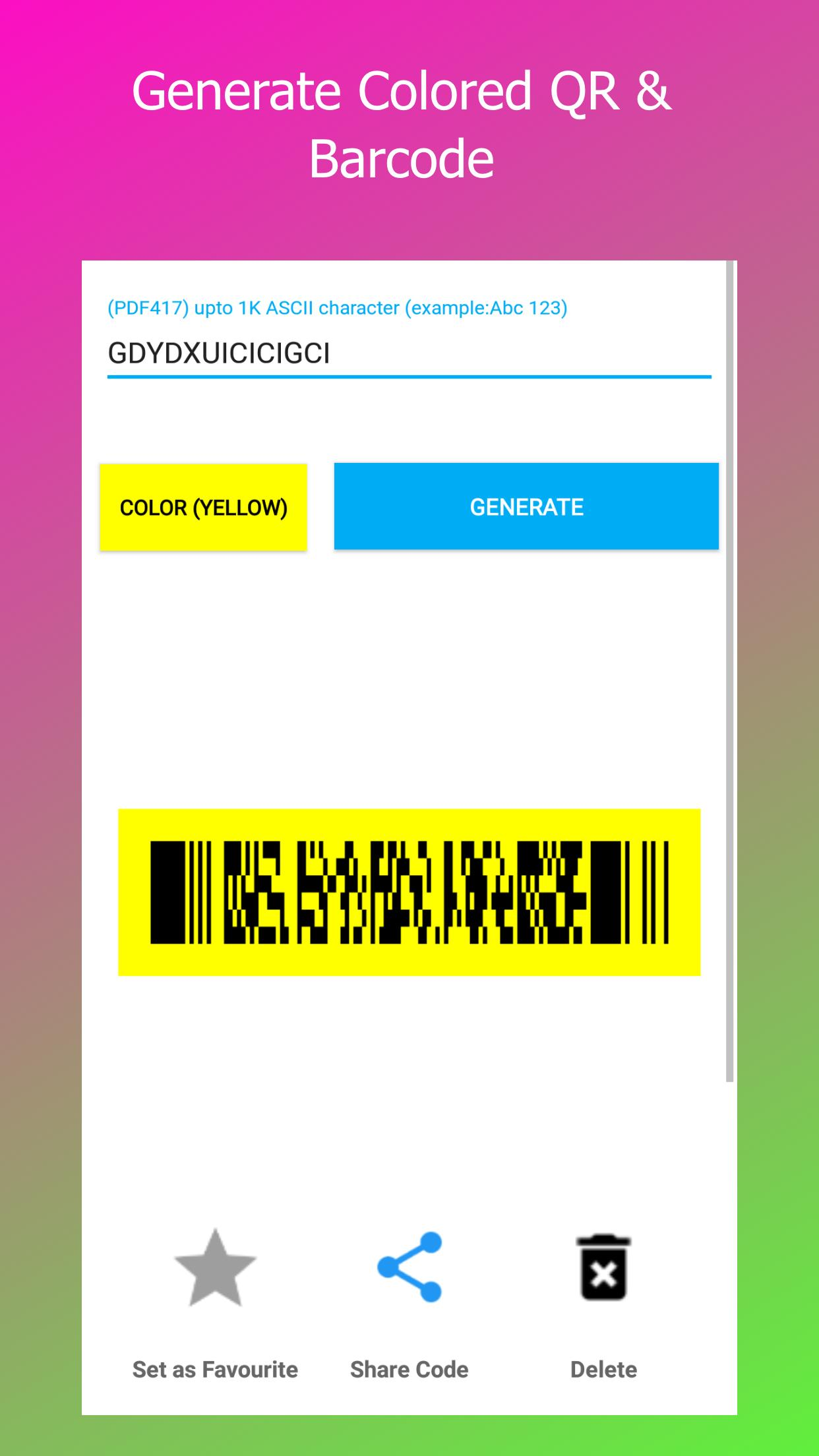 PDF417, Code 39, QR Barcode Scanner & Generator for Android
