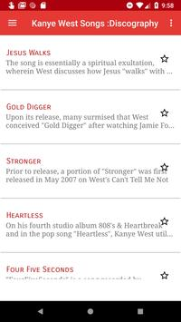 Kany'e West Songs Discography screenshot 1