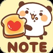Sticky Note Panda Bread icon