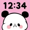 Relógio - Clock Widget Mochimochi Panda ícone