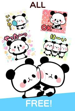 MOCHI MOCHI PANDA Stickers Free screenshot 2