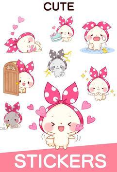 Mochizukin-chan Stickers screenshot 2