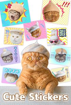 Cats' Hair Hats Stickers Free poster