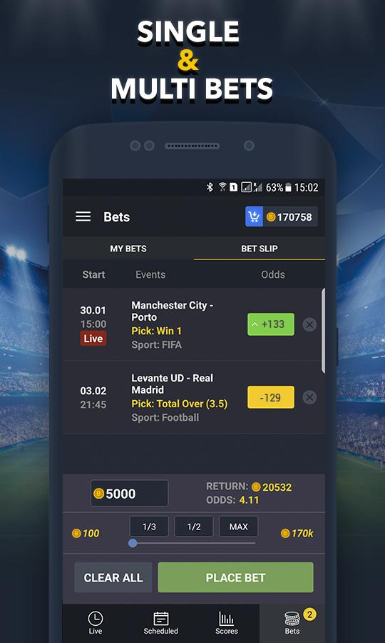 Sport betting app for android come guadagnare bitcoins
