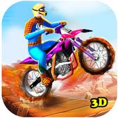 Superhero Bike Stunt 3D ícone
