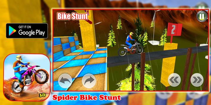 Superhero Bike Stunt 3D Plakat
