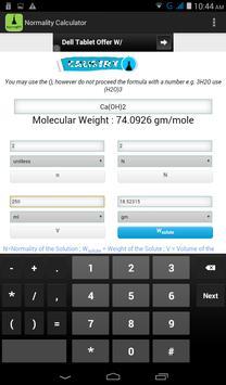 Normality Calculator screenshot 4