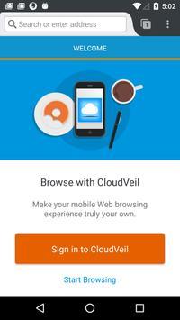 CloudVeil Blue poster