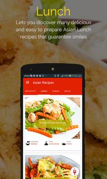 Asian Recipes captura de pantalla 1