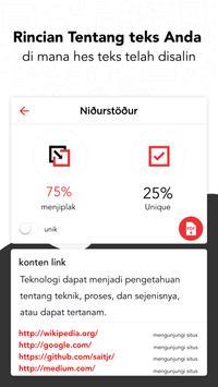 Plagiat Pemeriksa - Duplikat Konten Detektor screenshot 1