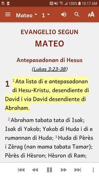 Papiamentu Bible imagem de tela 2