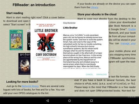 FBReader captura de pantalla 8