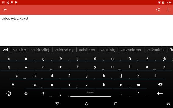 Lithuanian for AnySoftKeyboard screenshot 10